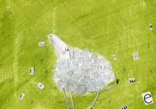 fioletowa owcaa